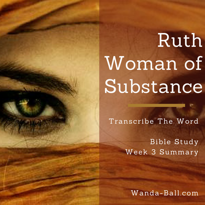 Ruth bible study week 3 summary